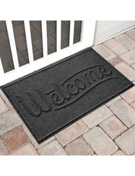 Water Guard Simple ''welcome'' Indoor Outdoor Mat   24'' X 36'' by Waterguard