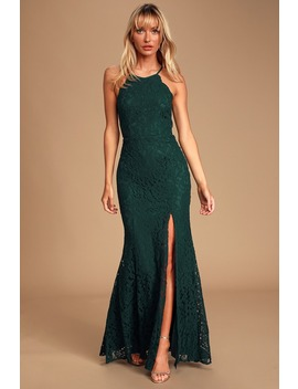 Splendor Of Love Emerald Green Lace Maxi Dress by Lulus