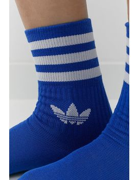 Adidas Originals Blue Mid Crew Socks 3 Pack by Adidas