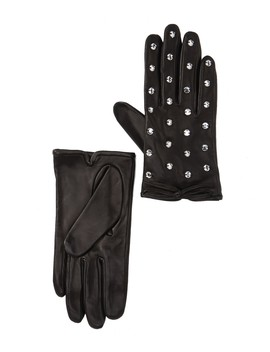 Bedazzled Leather Gloves by Kate Spade New York