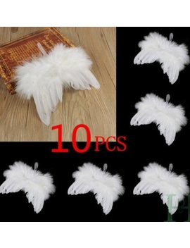 Us Chic Angel Feather Wing Christmas Tree Decor Hanging Ornament Wedding 10 Pcs by Canis