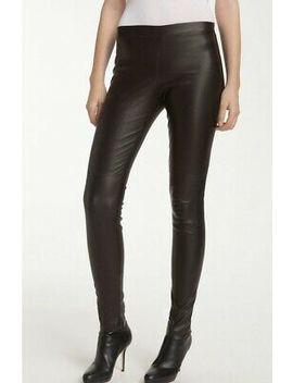 Vince Leather Lambskin Black Ankle Legging Skinny Pant Sz M Medium $995 New by Ebay Seller