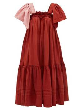 Aida Ruffled Organic Cotton Voile Dress by Story Mfg