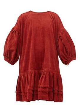 Verity Dipped Hem Organic Cotton Corduroy Dress by Story Mfg