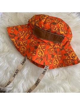 Loewe Orange Bucket Hat by Loewe