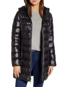 Three Quarter Packable Puffer Jacket by Via Spiga