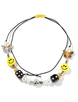 2020 Hot Fashion Rapper Asap Rocky Necklace Hip Hop Pearl Smiley Multi Element Adjustable Hip Chain by Wish