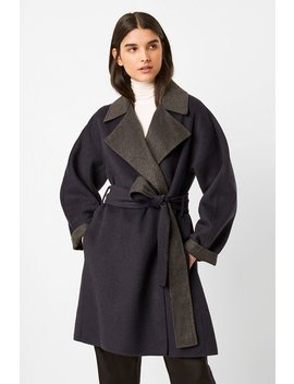 Enitain Felt Belted Coat by French Connection