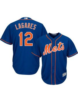 Majestic Men's Replica New York Mets Juan Lagares #12 Cool Base Alternate Home Royal Jersey by Majestic
