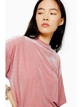 Velvet Oversized T Shirt by Topshop