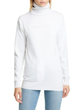 Logo Embossed Turtleneck Sweater by Ambush