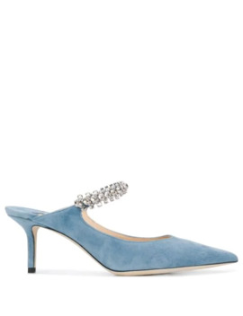 Embellished Strap 75mm Mules by Jimmy Choo
