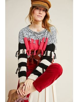 Pina Fringed Sweater by Veroalfie