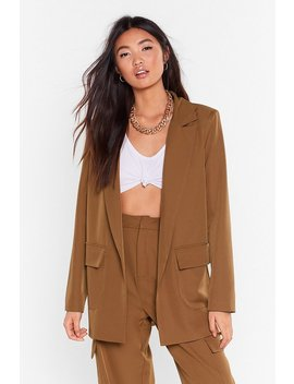 Can't Pocket Enough Longline Blazer by Nasty Gal