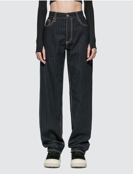Benz Pinstripe Midnight Jeans by              Eytys
