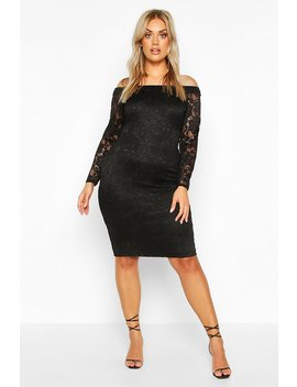Plus Lace Midi Dress by Boohoo