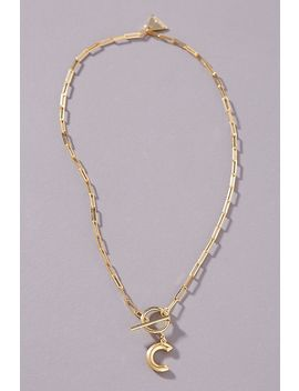Chain Link Monogram Necklace by Serefina
