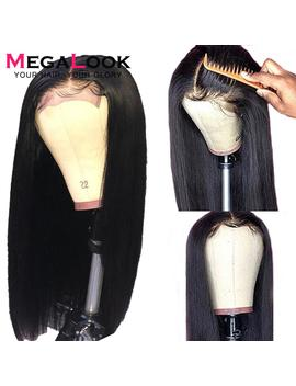 4x4 Closure Wig Lace Closure Wig Straight Lace Front Wig 150%Megalook Remy 30 Inch Lace Wig Brazilian Human Hair Wig Closure Wig by Ali Express.Com