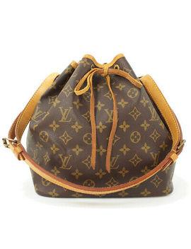Louis Vuitton Monogram Petit Noe M40818 Shoulder Bag Brown Canvas by Louis Vuitton