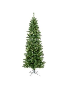 4.5ft Pre Lit Salem Pencil Pine Artificial Tree Led Warm White   Vickerman by Vickerman