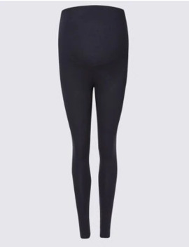 Maternity Cotton Rich Leggings by Marks & Spencer