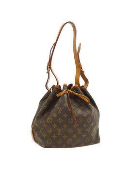 Louis Vuitton Petit Noe Shoulder Bag Purse Monogram M42226 Authentic A47201 by Louis Vuitton