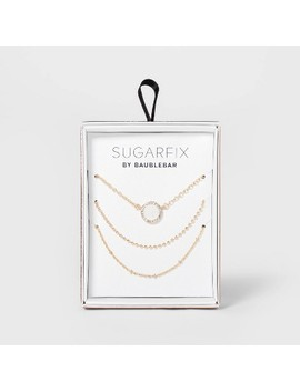 Sugarfix By Bauble Bar Pre Layered Pendant Necklace   White by Sugarfix By Bauble Bar