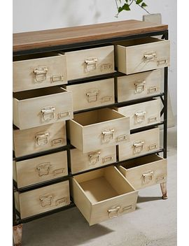 White Industrial Storage Dresser by Urban Outfitters