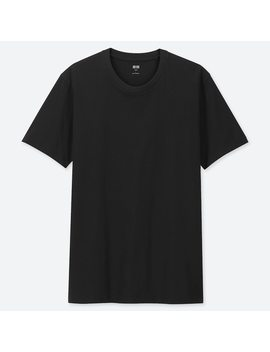 Men 100% Supima Cotton Crew Neck Short Sleeved T Shirt by Uniqlo