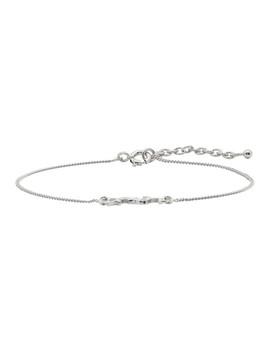 Silver Monogram Bracelet by Saint Laurent