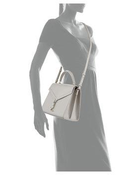 Cassandra Medium Grain De Poudre Tech Top Handle Shoulder Bag by Saint Laurent