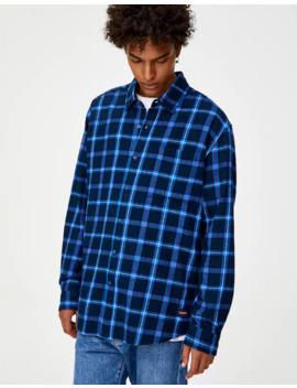 Flanellen Overhemd Met Blauwe Ruiten by Pull & Bear