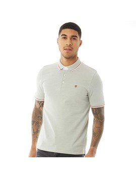 Jack And Jones Mens Paulos Play Blu Polo Lily Pad by Jack And Jones