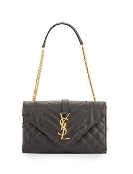 Small Ysl Monogram Leather Satchel Bag by Saint Laurent
