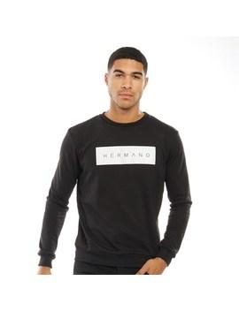 Hermano Mens Core Box Logo Sweatshirt Black by Hermano