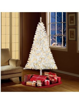 Holiday Time Pre Lit 6.5' Madison Pine White Artificial Christmas Tree, Clear Lights by Holiday Time