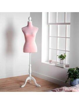 Blush Pink Velvet Mannequin Body Display Female Dummy Stand Dressmaker Bust 8/10 by Ebay Seller