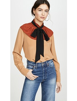 Gathered Collar Blouse by Coach 1941