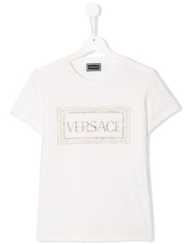 Teen Crystal Logo T Shirt by Young Versace