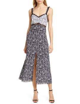 Sarita Pattern Mix Sleeveless Silk Midi Dress (Regular & Plus Size) by Tanya Taylor