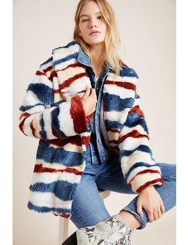 Leona Faux Fur Coat by Anthropologie