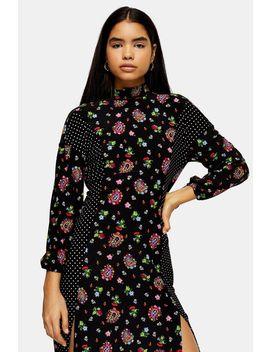 Paisley Spot Midi Dress by Topshop