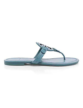 Croc Embossed Leather Thong Sandals by Tory Burch