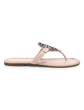 Miller Metal Leather Thong Sandals by Tory Burch