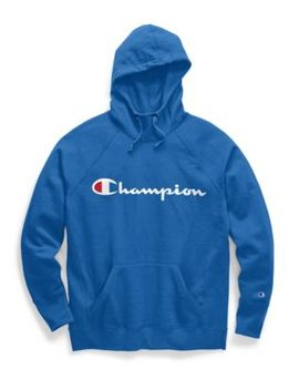 Champion Women's Powerblend® Fleece Pullover Hoodie, Script Logo by Champion