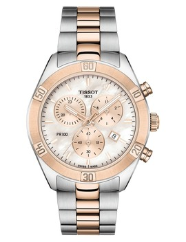 Pr 100 Diamond Chronograph Bracelet Watch, 38mm by Tissot