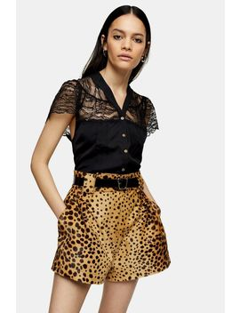 Idol Black Lace Blouse by Topshop