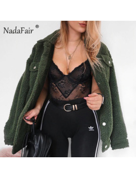 Nadafair Loose Lamb Faux Fur Coats Women Plus Size Casual Winter Plush Teddy Jacket Coat Outerwear Overcoat Veste Fourrur by Ali Express.Com