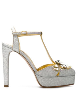 Zapatillas Mary Jane Con Apliques by Casadei