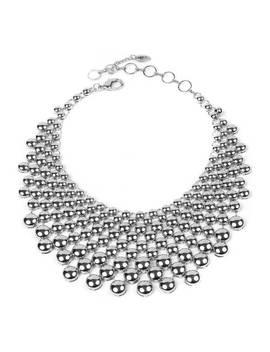 Silver Collar Necklace by Amrita Singh